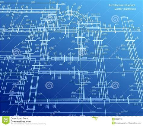 design blueprint architecture blueprint background vector royalty free