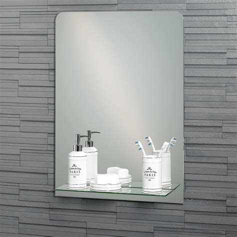 built in bathroom mirror buy frameless rectangular quot rochester quot bathroom mirror with