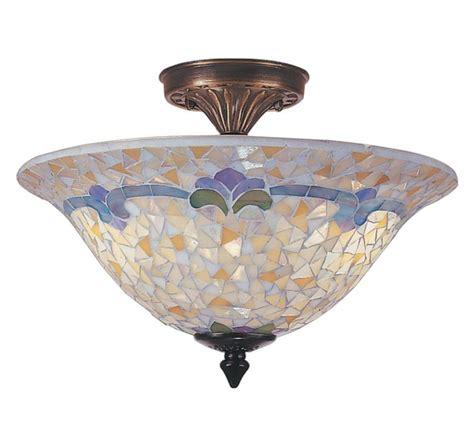 dale tiffany l value dale tiffany tm100553 3 light johana mosaic flush mount in
