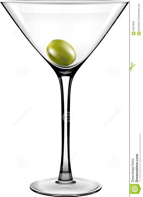 birthday martini white background vector olive martini glass stock photo image 66313056