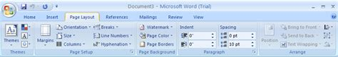 layout tab word 2007 show or hide white space between pages page 171 style