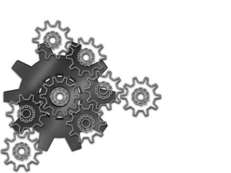powerpoint template gears and wrenches over yellow engineering gears backgrounds black tools and devices