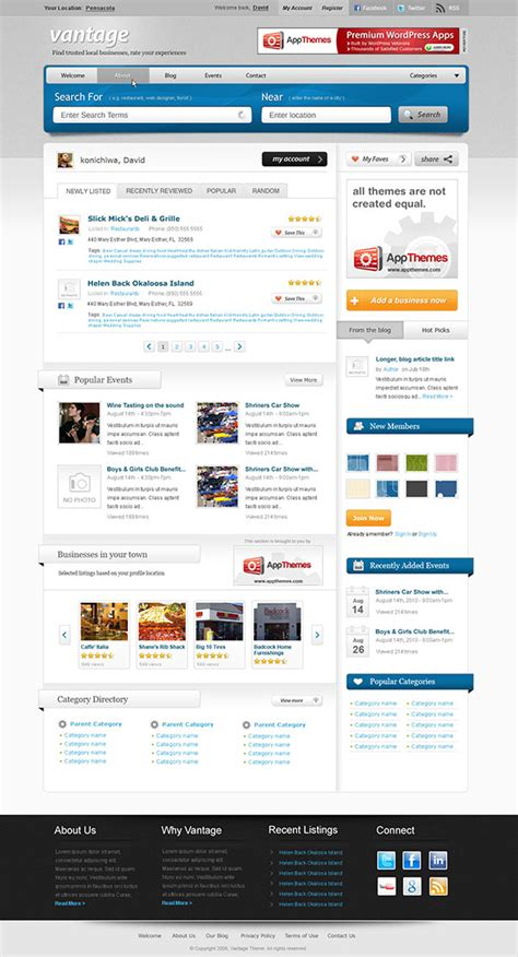 business listing website template business directory website template business directory theme vantage