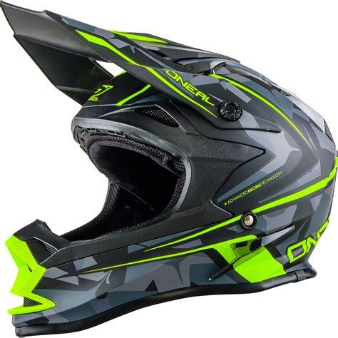camo motocross helmet oneal 7 series evo camo grey yellow motocross helmet off