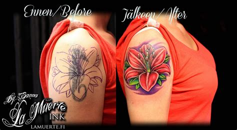girl cover up tattoos wonderful flowers cover up on back