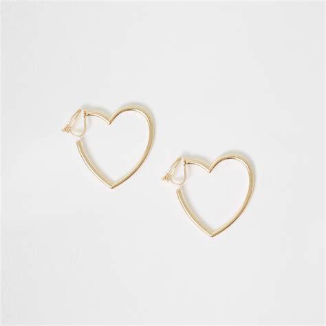 Gold Tone Clip Earrings gold tone shaped clip on earrings jewellery