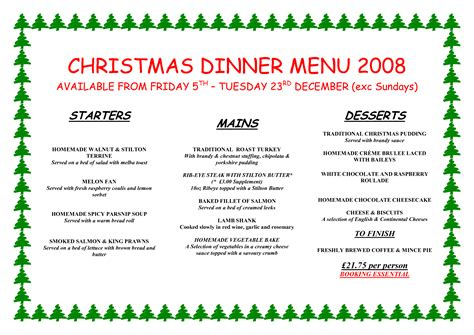 christmas menu ideas christmas dinner menu ideas happy holidays