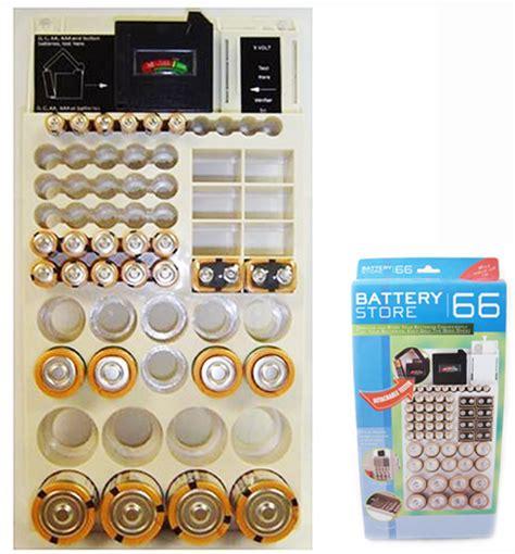 Battery Rack Organizer by 66 Battery Storage Plastic Holder Rack Organizer Removable Tester For Aaa 9v C D Ebay