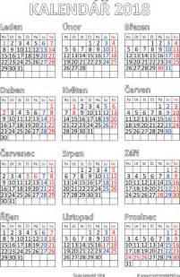 Kalendar Rok 2018 Kalend 225 ř 2018 K Vytisknut 237 Pdf Soubory Pdf Zdarma Pro Tisk