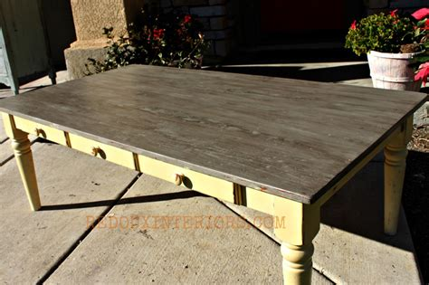 Weathered Wood Coffee Table Cold Weathered Wood Coffee Table