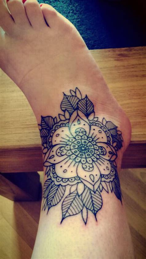 mandala ankle tattoo 25 best ideas about detailed on