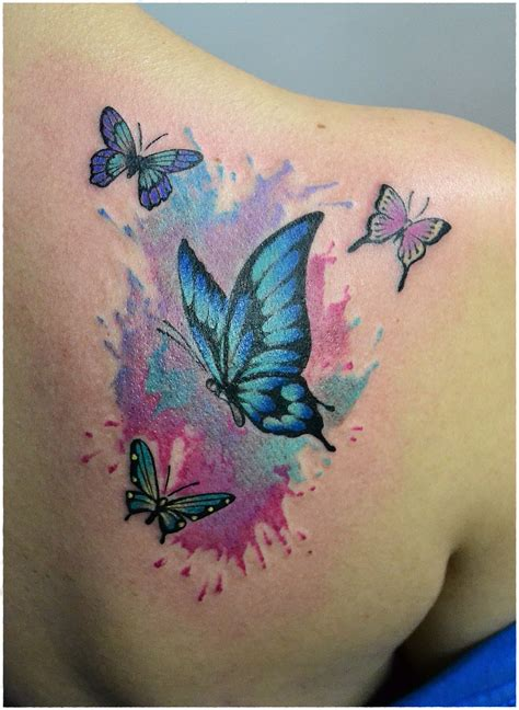 small 3d butterfly tattoos watercolor butterfly color tattoos