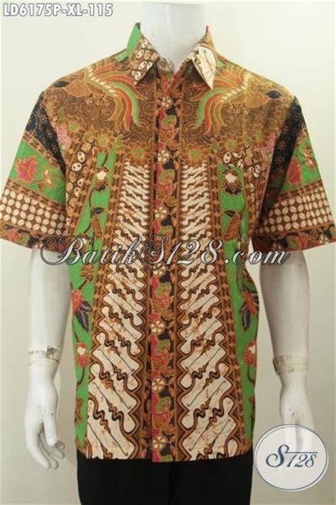 desain baju batik lelaki busana kerja bahan batik desain hem lengan pendek nan