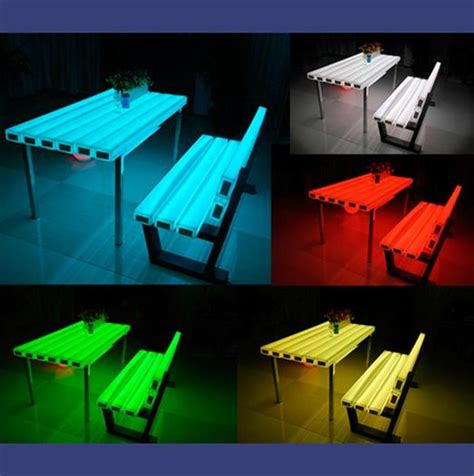 led bench bench chair led rgb changeable 1050mm