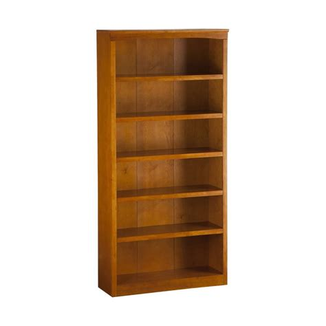 shop atlantic furniture caramel latte 6 shelf bookcase at