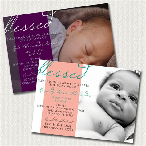 baby dedication invitation template baby dedication blessing christening invitation boy or
