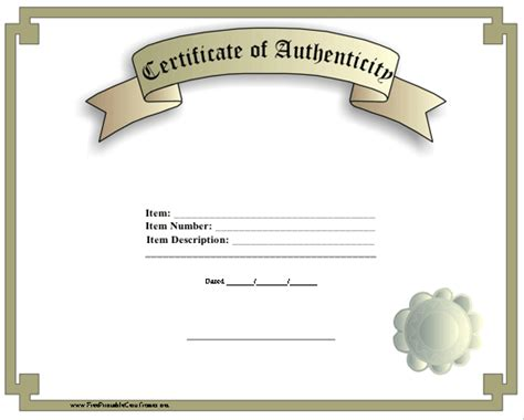 certificate of authenticity philosophy sociology