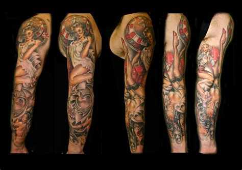 pin up tattoo for men pinup sleeve by lhpandy on deviantart