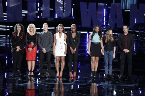 who went home on the voice 2015 last top 8 results