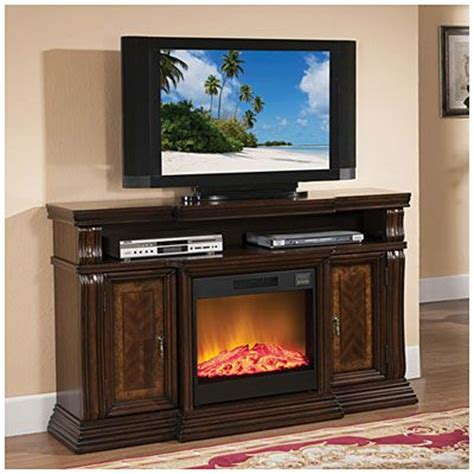 60 quot walnut media fireplace at big lots for the home