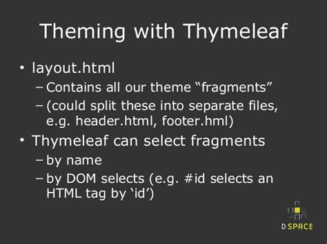 thymeleaf layout js dspace ui prototype challenge spring boot thymeleaf