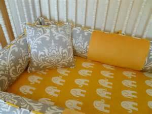 yellow and grey baby bedding sets custom crib bedding set grey and yellow by pljdesign on etsy