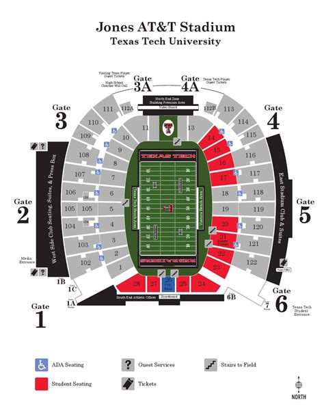 texas tech football seating map issuu 2015 jones at t stadium map by texas tech athletics