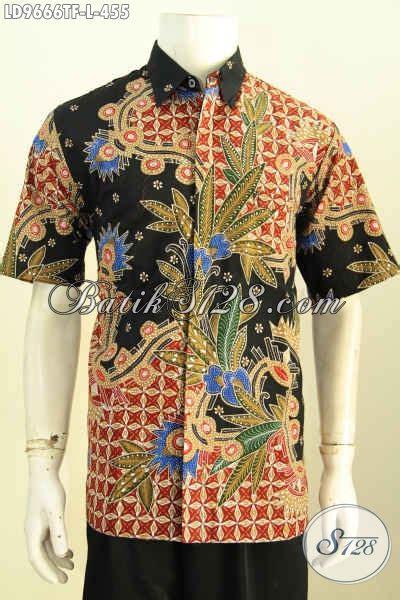 Ms Kemeja Pria Lengan Pendek Furing Hem Arjuna Batik Premium 1 koleksi seragam kerja kemeja hitam lengan pendek produk