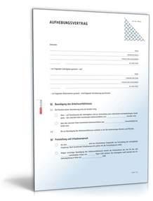 Vorlage Kündigung Arbeitsvertrag Mit Resturlaub Aufhebungsvertrag Arbeitsverh 228 Ltnis Muster Zum