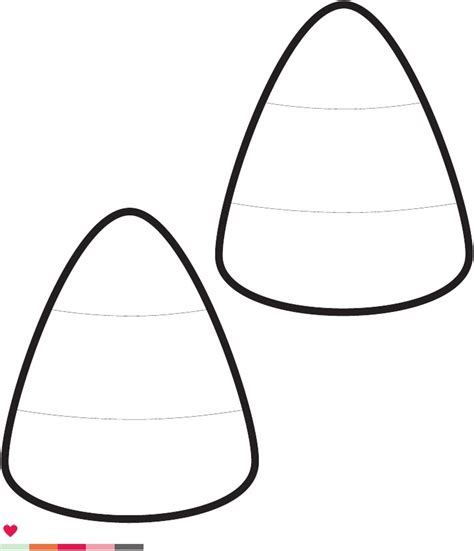 candy corn template printable clipart best