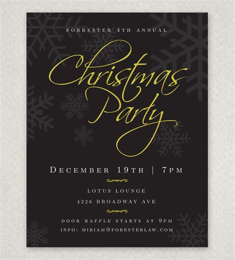 20 holiday party flyer templates psd designs free