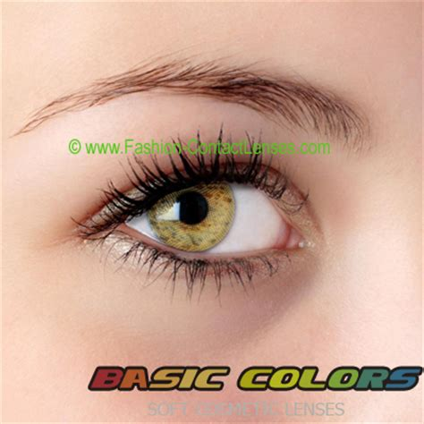 honey colored contacts basic colors contact lenses