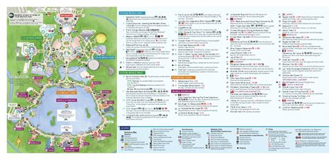 map of epcot wdwthemeparks epcot photos map
