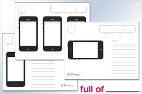 iphone app design template 20 free printable sketching and wireframing templates