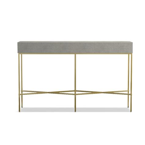 faux shagreen console table williams sonoma