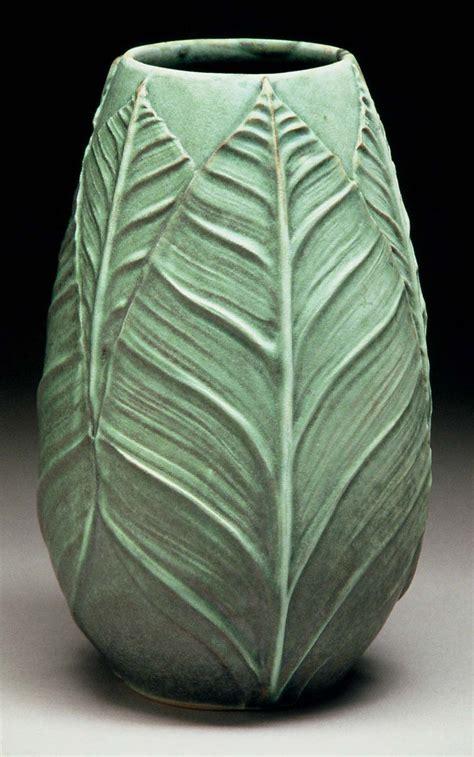 leaf pattern brush richard vincent pottery slip design brush on leaf pattern
