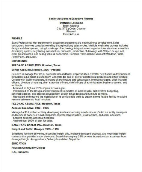senior accountant resume sle pdf 45 executive resume templates pdf doc free premium templates