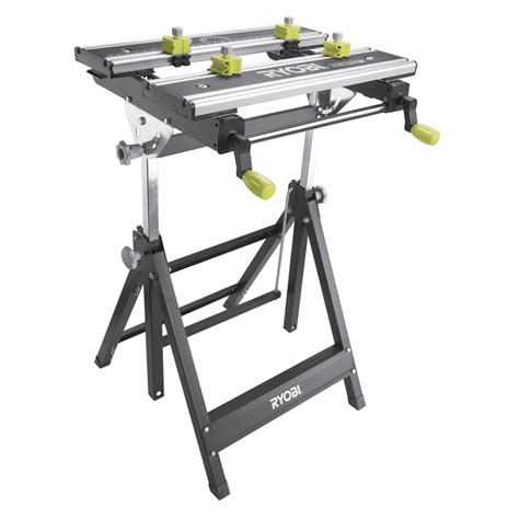 ryobi work bench ryobi 100kg foldable metal workbench with adjustable angle