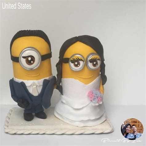 imagenes minion boda minions wedding cake topper cold porcelain 2541814