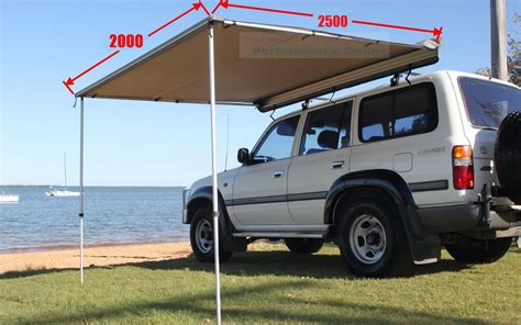 roof awning 4x4 new 2 0x2 5m cool flo 4x4 roof side awning pullout ripstop