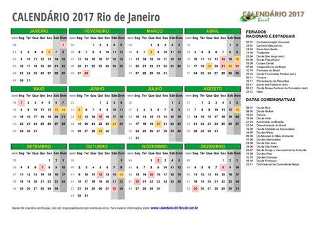 Calendario Completo 2017 Calend 193 2017 Para Imprimir Feriados