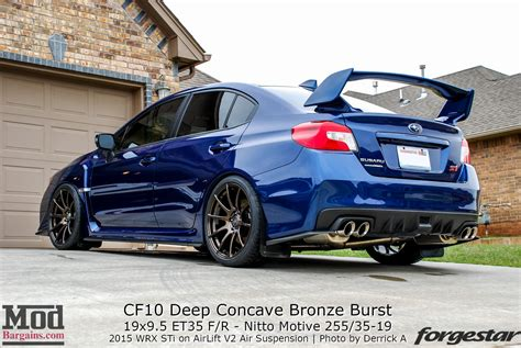 bronze subaru wrx quick snap 2015 sti on forgestar cf10 wheels