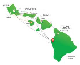 map of hawaiian islands and california route map mokulele airlines where we fly