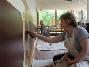 St Cornelius Chadds Ford Murals Graining Classes In Progress Chadds Ford