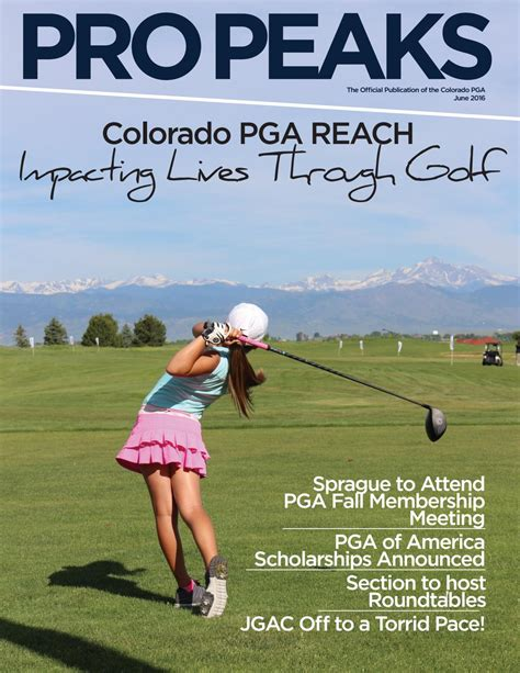 colorado pga section colorado pga june pro peaks digital magazine by colorado