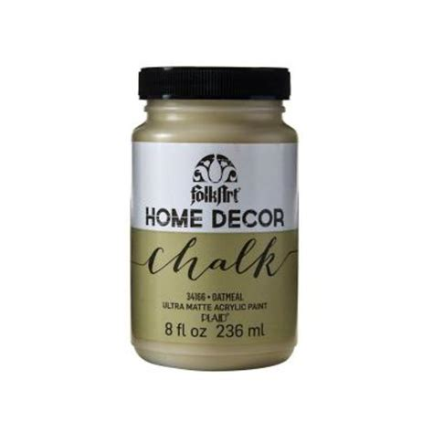chalk paint wax home depot folkart home decor 8 oz oatmeal ultra matte chalk finish