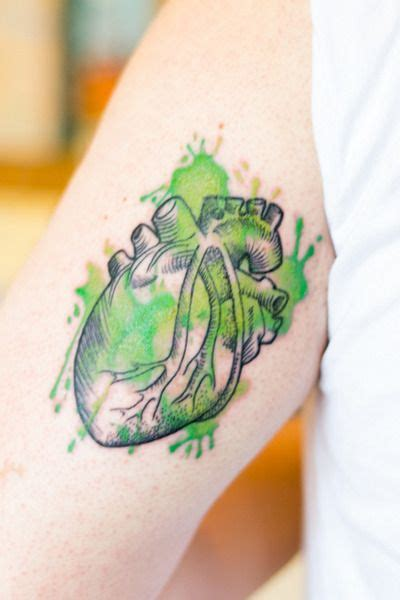 tattoos heart green quot after 1 year living in ireland i had my heart painted of