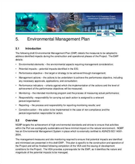 6 management plan sles templates pdf doc