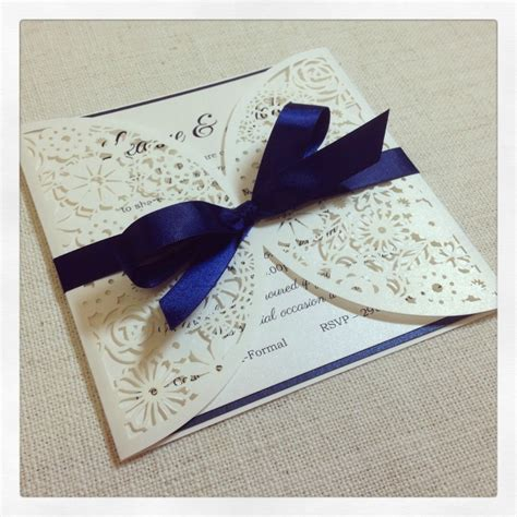 Luxe Laser Cut Wedding Invitation - luxe laser cut simply stunning stationery