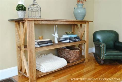 make your own sofa table making your own console table woodworking projects plans